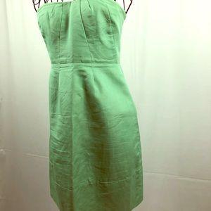 J. Crew pale green strapless cotton dress 6